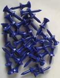 Pure4Golf 30 Plastic Step Tees Blauw 37mm_