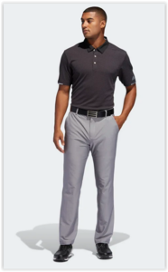 Adidas ClimaChill Tonal Stripe PoloShirt Zwart Carbon