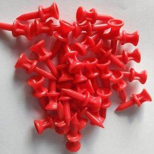 Pure4Golf Plastic Step Tees Rood 31mm